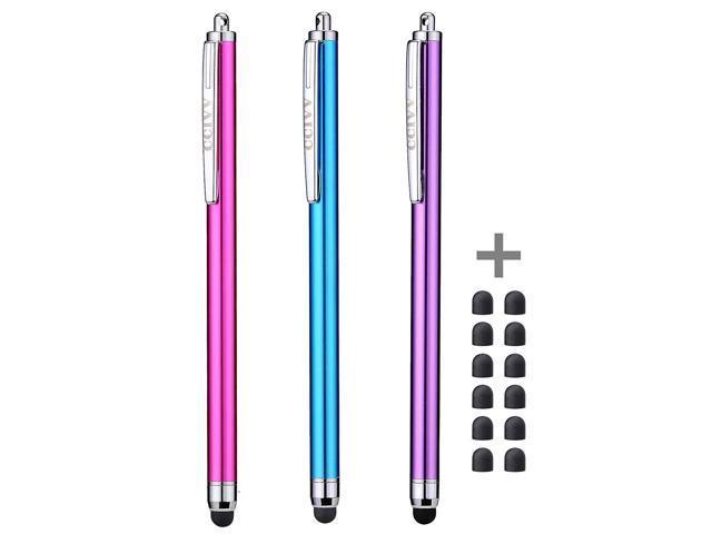 Stylus Pens for Touch Screens iPad iPhone Kindle Fire (Pink/Purple/Aqua  Blue) - Newegg com