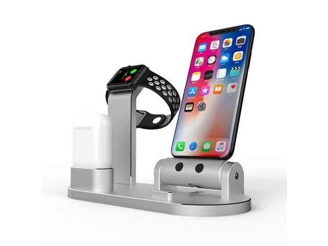 best loved 8e452 86ab4 FACEVER 3 in 1 Aluminum Charge Dock Stand Holder Charging Station  Compatible Apple Watch iWatch Series 4 3 2 1 Airpods iPhone X XS XS MAX 8 8  Plus 7 7 ...