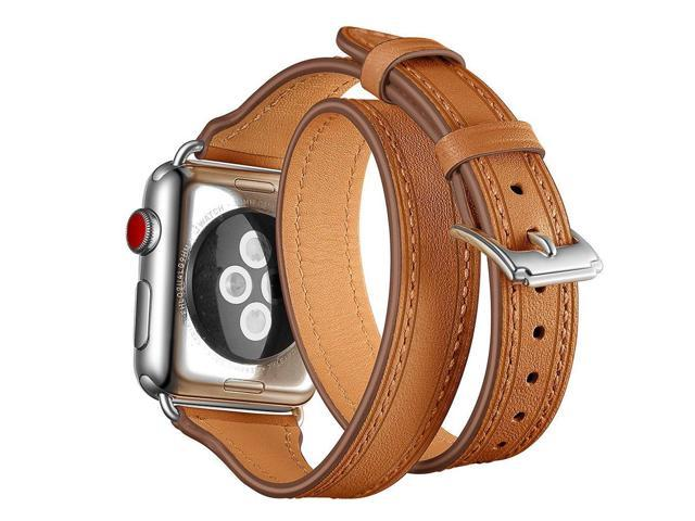 e0fdb8dd0 Maxjoy for Apple Watch Band, 38mm 40mm iWatch Bands Leather Strap Soft  Replacement Wristband with Metal Buckle Clasp Slim Bracelet for Apple Watch  Series 4 ...