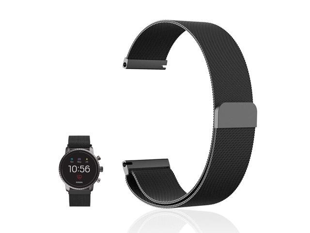 FRGNIE Compatible Fossil Q Explorist HR Band, Milanese