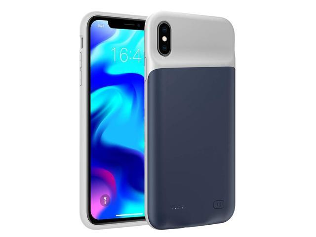 low priced ce7a6 f1a0d iPhone Xs Max Battery Case, SNSOU 6500mAh Ultra Slim Extended Rechargeable  Charger Case External Battery Pack Portable Power Bank Protective Charging  ...