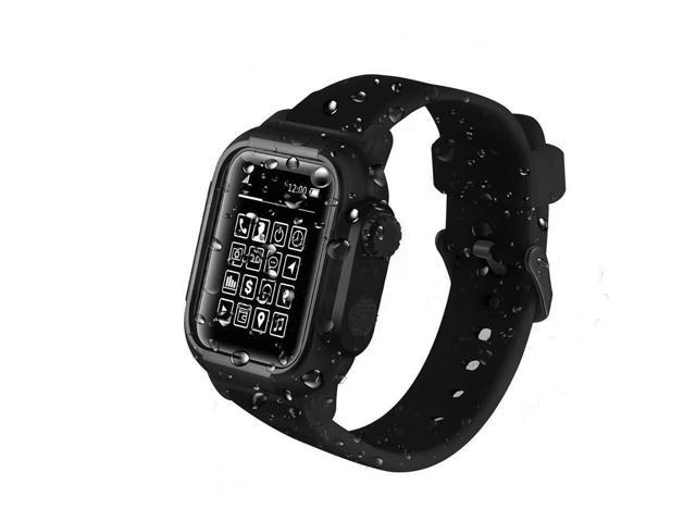 uk availability bfaea 77de3 Compatible Apple Watch 44mm Case - IP68 Waterproof Shockproof Impact  Resistant+Premium Soft Silicone Apple Watch Band- Compatible with iWatch  Series 4 ...