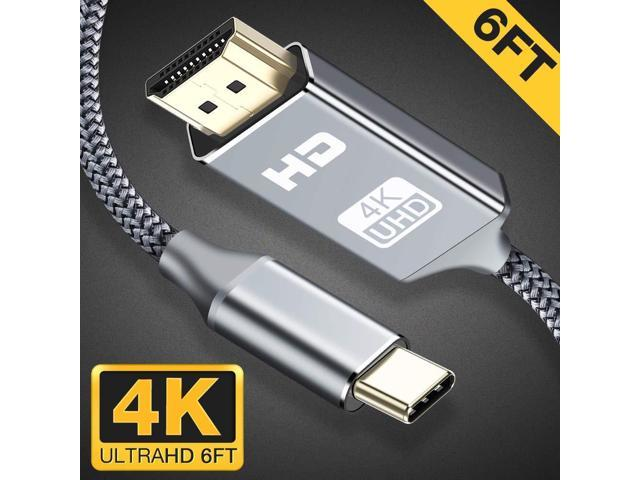 USB C to HDMI Cable(4K@60Hz),Highwings 6ft/1 8m Type C to HDMI  Cable(Thunderbolt 3 Compatible)with Pad Pro/MacBook Air 2018,MacBook  Pro,Mac mini
