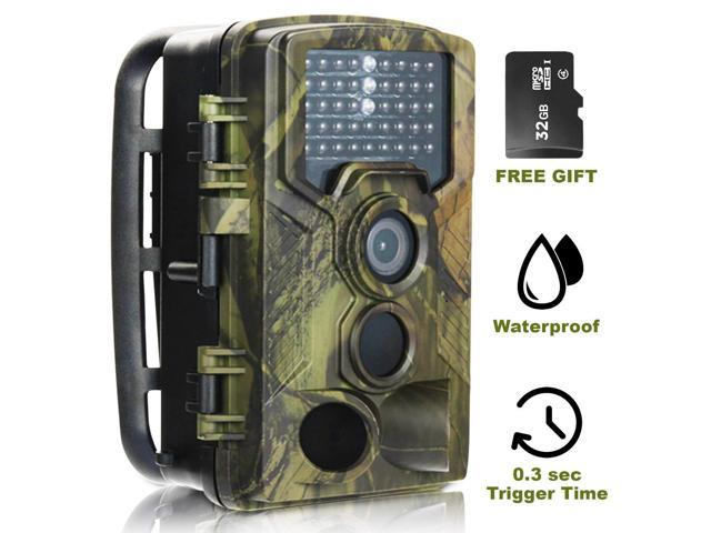 Trail Camera- Game Deer Wildlife Hunting Scouting Cam- Night Vision- Motion  Activated Video Sound  3s Trigger 16Mp 1080P - Full HD Stealth Outdoor