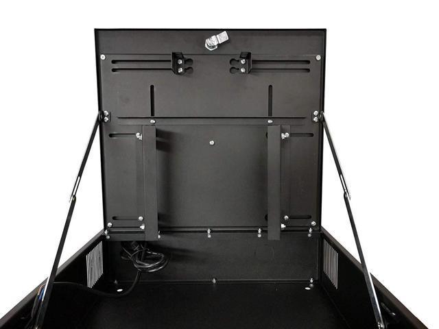 """Kenuco Heavy Duty 16 Gauge Steel 18/"""" X 18/"""" X 5/"""" Dvr Security Lockbox With Fan"""