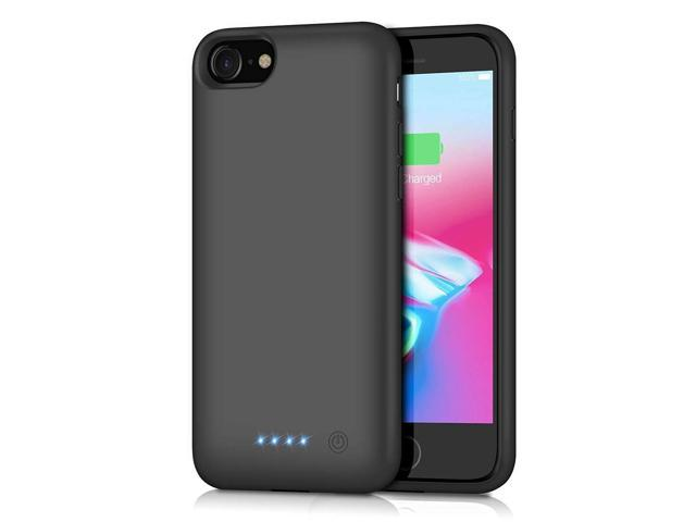 the best attitude 90980 e86d9 Battery Case for iPhone 8/7, [6000mAh] QTshine Protective Portable Charging  Case Rechargeable Extended Battery Pack for Apple iPhone 8&7(4.7') Backup  ...