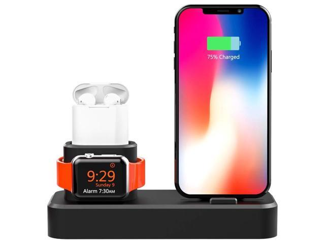 online store bbba7 59a9d ROITON 3 in 1 Charging Stand Dock Station for Apple Watch iWatch Series  4/3/2/1, Stand Dock Charger for Airpods /iPhone Xs/X Max/XR/X/8/8Plus/7/7  Plus ...