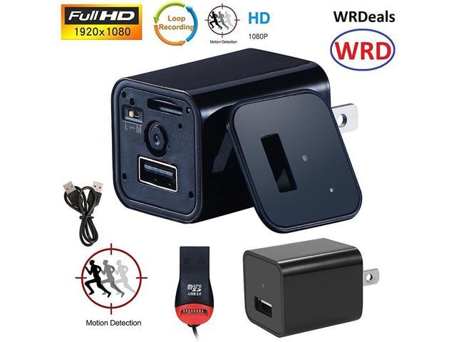 1080P Hidden Camera USB [newest model] WRD Wall Charger Spy Camera Adapter  Motion Detection 32gb support [not included] - Newegg com