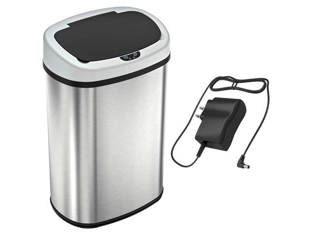 SensorCan OSC13SBSAC 13 Gallon Battery-FREE Automatic Sensor Kitchen Trash  Can with Power Adapter Touchless Stainless Steel Garbage Bin - Newegg.com