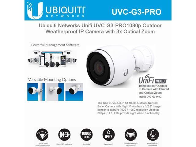 Ubiquiti Network UniFi UVC-G3-PRO 1080p Outdoor Weatherproof IP Camera with  3x Optical Zoom - Newegg com