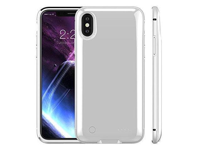 hot sale online 7430f cae9d Battery Case for iPhone X, 5000mAh Rechargeable External Battery Portable  Power Charger Protective Charging Case for Apple iPhone X,iPhone 10 (5.8 ...