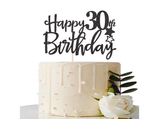 Terrific Black Happy 30Th Birthday Cake Topper Hello 30 Cheers To 30 Years Funny Birthday Cards Online Alyptdamsfinfo