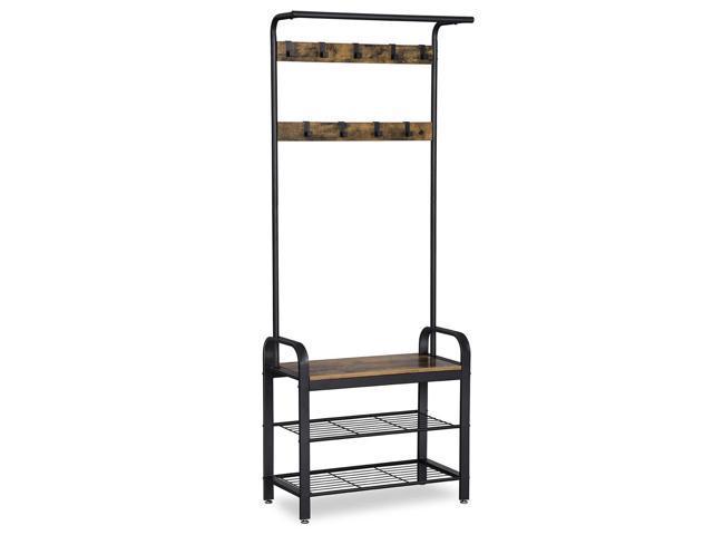 Tremendous Vasagle Industrial Coat Rack Shoe Bench Hall Tree Entryway Dailytribune Chair Design For Home Dailytribuneorg