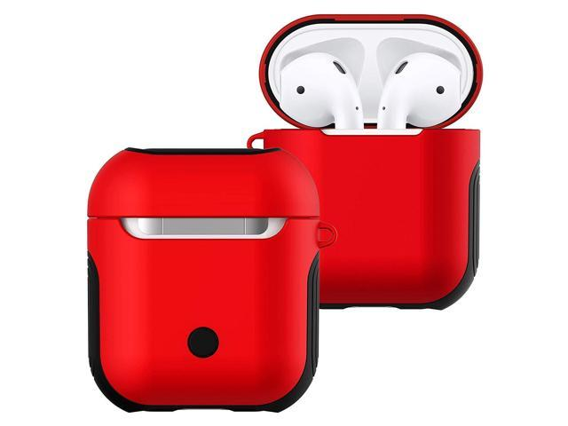 new concept 60c35 6bc51 Airpods Case Cover,Angimi Air Pods Case and Skin with Lanyard, Airpod Skins  is with Soft Silicone and Hard Case Double Shockproof Design - for Apple ...