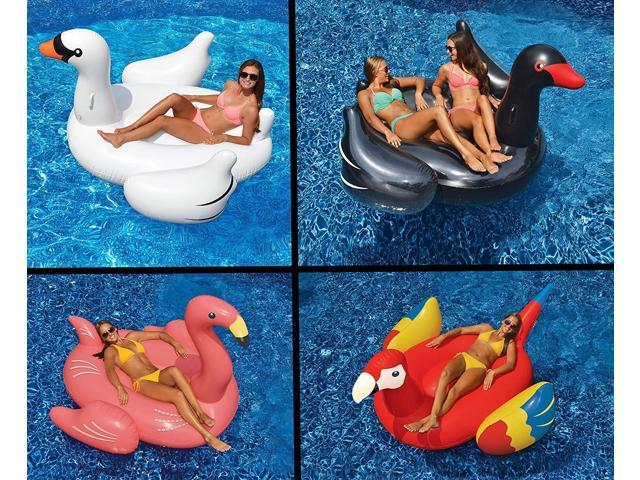 Phenomenal Swimline Giant White Swan Flamingo Black Swan Parrot Floats For Swimming Pools 4 Pack Newegg Com Creativecarmelina Interior Chair Design Creativecarmelinacom