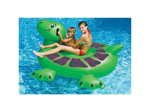 Swimline 90622 Swimming Pool Kids Inflatable Giant Rideable Turtle Float  Toy 74\