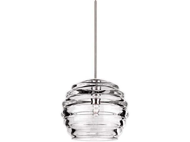 Wac Lighting Qp Led916 Cl Bn Clarity Quick Connect Led Pendant Clear Shade With Brushed Nickel Socket Set Newegg