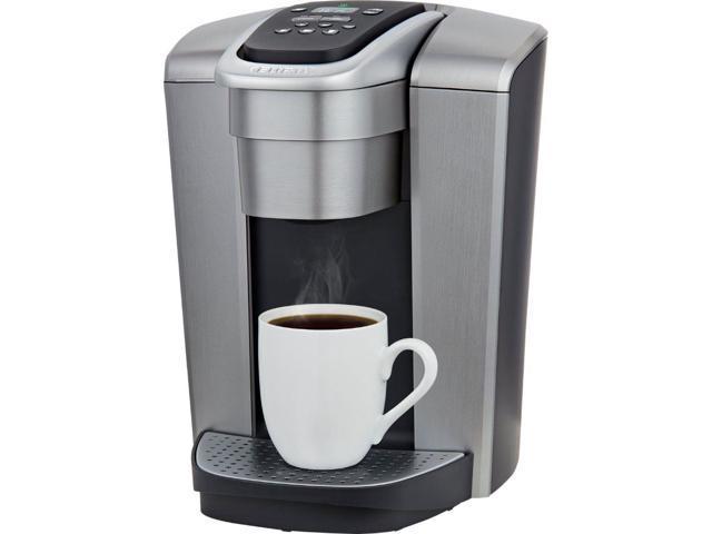 Keurig K Elite Single Serve K Cup Pod Coffee Maker Brushed Silver