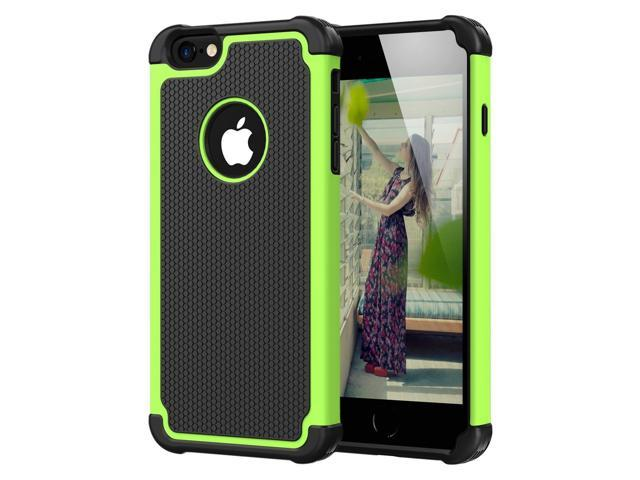 newest 6159a da9a5 iPhone 6 Plus Case, iPhone 6S Plus Case,CHTech Shockproof Durable Hybrid  Dual Layer Armor Defender Protective Case Cover for Apple iPhone 6 Plus /6S  ...