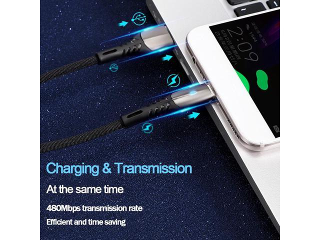 LJWY Micro USB Cable 3A Fast Charging USB Data Cable Cord for Samsung Xiaomi Redmi Note 4 5 Android Microusb Fast Charge 3M 2M Color : Gold, Size : 1m