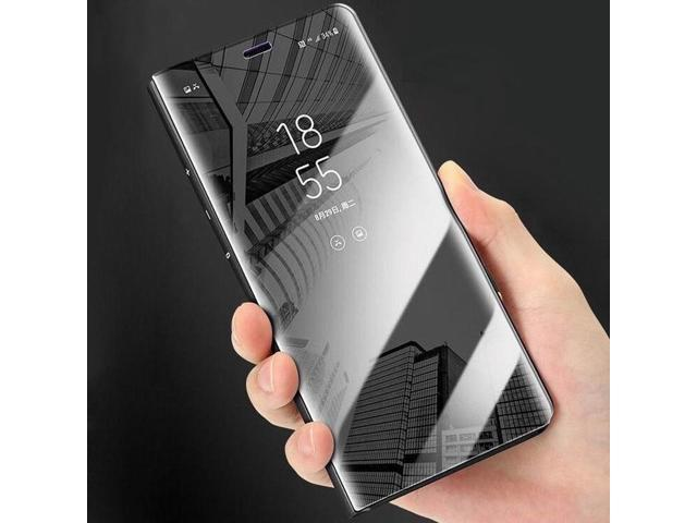 more photos 56ff1 30e49 YISHANGOU Luxury Plating Mirror View PU leather Phone Case For Huawei P10  Plus Mate9 Pro Mate10 Pro Honor V10 Hard PC Full Cover - Newegg.com