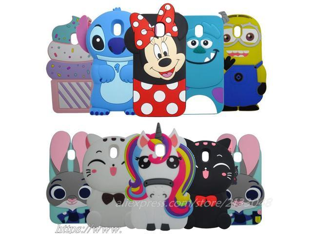 release date 961b4 ac75c Silicone Case For Samsung Galaxy J3 2017 3D cartoon unicorn Minnie Stitch  Cover for Samsung J3 Prime Phone Case - Newegg.com