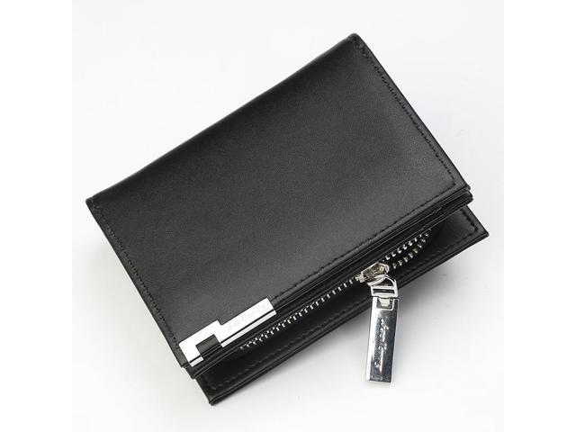 Fashion Men Mini Wallets Multi card Holder Purse PU Leather Short Coin Pocket Multifunction Male Clutch Bag Money Zipper Wallet