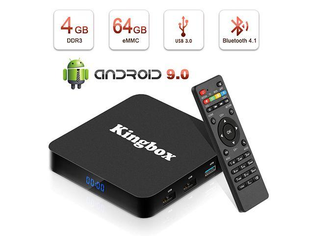 Kingbox Android 9 0 TV Box with 4GB RAM 64GB ROM, 2019 K4