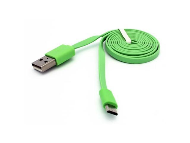 RED FLAT 6FT LONG USB CABLE CHARGE POWER WIRE DATA SYNC CORD for PHONE /& TABLETS