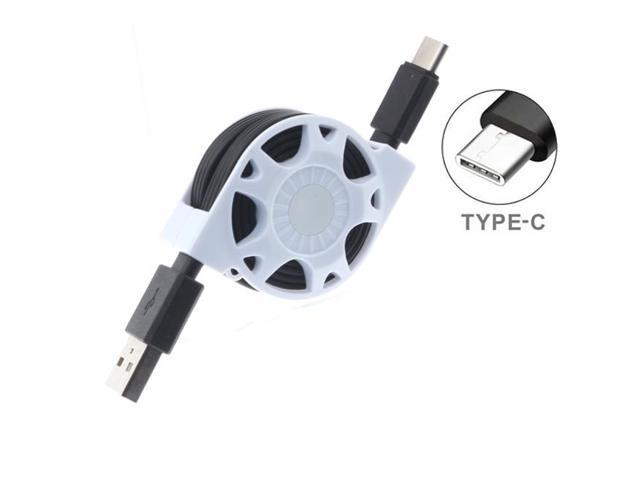 Type-C Retractable USB Cable Charge Sync Power Wire USBC-C Data Cord Compatible With Lenovo Moto Tab (10.1)