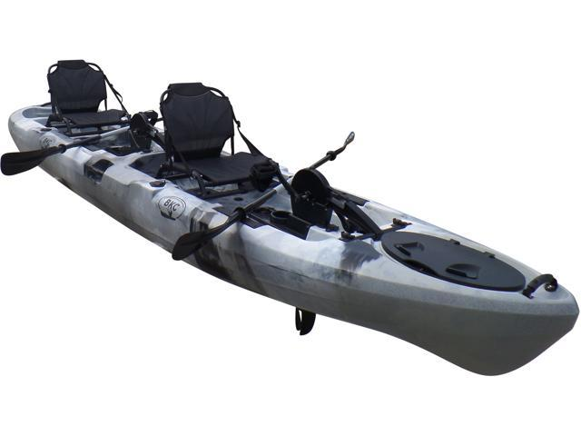 BKC UH-PK14 14 foot Sit On Top Tandem Fishing Pedal Drive Kayak Upright  Seats included - Newegg com
