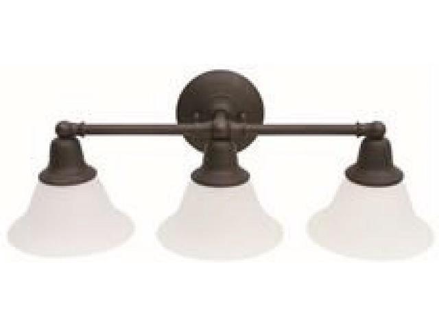 Monument Lighting 617091 Decorative 4 Light Vanity Fixture: SONOMA 3-LIGHT VANITY FIXTURE FROSTED GLASS 24-1/2 X 8-3/4