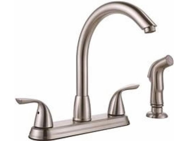 PREMIER® SANIBEL™ TWO-HANDLE KITCHEN FAUCET WITH SIDE SPRAY, BRUSHED NICKEL  - Newegg.com