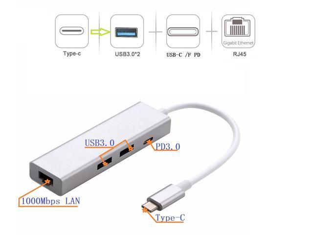 USB 3.1 Type C to USB3.0//Ethernet//Type C PD Charging Adapter Free Shipping