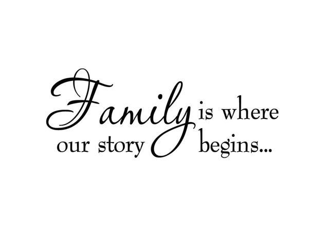 vwaq family is where our story begins family wall decals