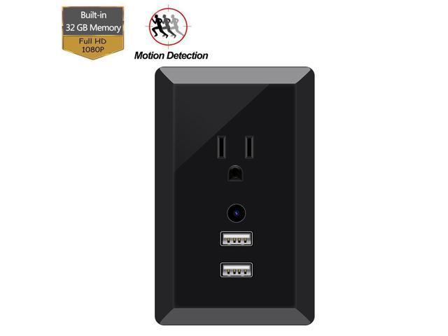 Dual USB Charger Camera, KAMRE 1080P Wall Charger Camera, Outlet Camera  Adapter 32GB Internal Memory - Newegg com
