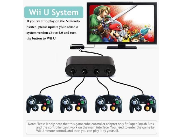 E-NET Gamecube Controller Adapter - [Updated Version] Adapter Converter Wii  U, Switch, PC, No Driver Needed USB - 4 Port Gamecube NGC Controller