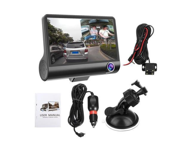 4/'/' HD 1080P 3 Lens Car DVR Dash Cam G-sensor Video Recorder Rearview Camera
