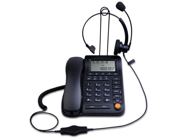 Kerlitar P017b Call Center Corded Phone With Caller Id And Rj9 Monaural Headset Home Office Landline Phone With Speakerphone Newegg Com