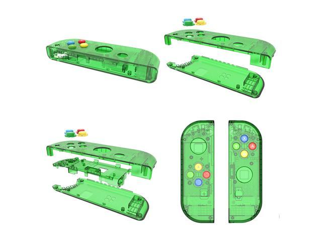 Replacement Housing Back Shell Case Cover & Controller Case for Nintendo  Switch NS Controller & Joy-Con Game Console , switch shell with 7  transparent