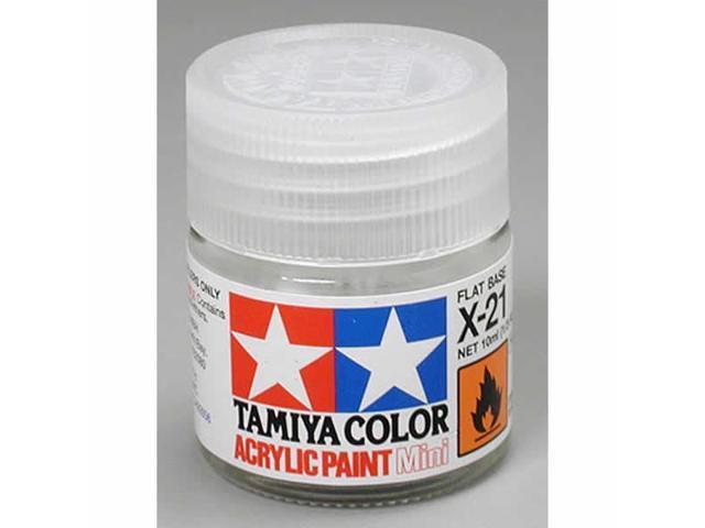 X21 Flat Base Acrylic 23ml (3/4oz) Bottle Hobby Paint Tamiya - Newegg com