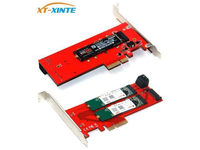 PCI-E 4X to NGFF SSD Riser Card B-Key+M-Key M.2 NGFF+NVME Dual PCIE Adapter Card