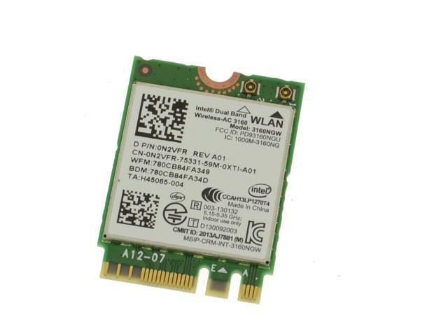 Dell Inspiron 15 5558 Intel Dual Band Wifi Wireless Bluetooth Card 3160NGW N2VFR