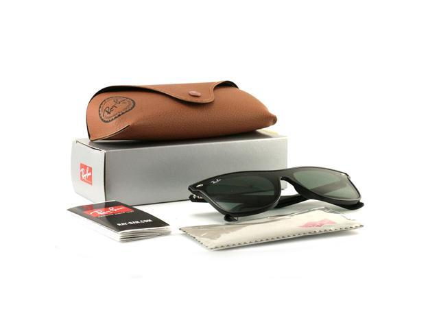 fde730373842e Ray-Ban Blaze Wayfarer Sunglasses RB440 NF Black 601 71 Green Lens 44 145