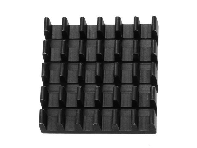 uxcell Aluminum Heatsink Cooler Circuit Board Cooling Fin Black 19mmx19mmx5mm 5Pcs for Led Semiconductor Integrated Circuit Device