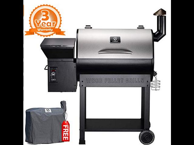 Z Grills 2018 New Model ZPG-7002E Wood Pellet Smoker, 8 in ...