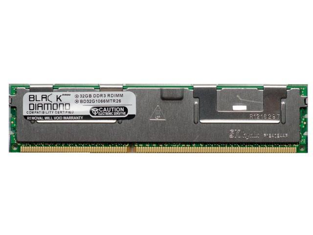 32GB Memory RAM for Dell PowerEdge T610 240pin PC3-8500 1066MHz DDR3 ECC Registered RDIMM Black Diamond Memory Module Upgrade