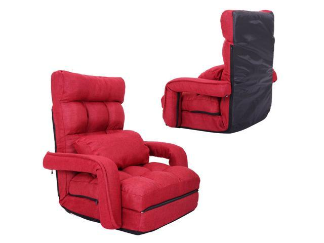 Astounding Floor Sofa Reclining Game Chair With Armrest Folding Lounge Sofa Floor Couc Newegg Com Ibusinesslaw Wood Chair Design Ideas Ibusinesslaworg