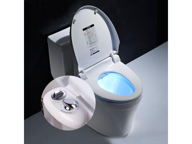 Remarkable White Fresh Water Spray Non Electric Mechanical Bidet Toilet Inzonedesignstudio Interior Chair Design Inzonedesignstudiocom