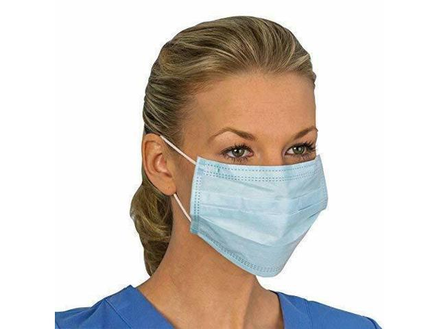 50 Pieces Disposable Mouth Face Mask Filter Dust Flu 3-Layer Earloop Respirator